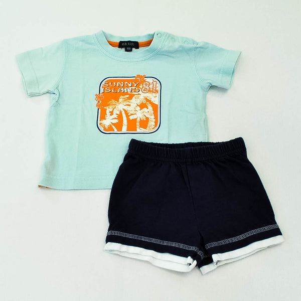 E.B. Kids Shirt with Child of Mine by Carter's Shorts ~ Gently-Used