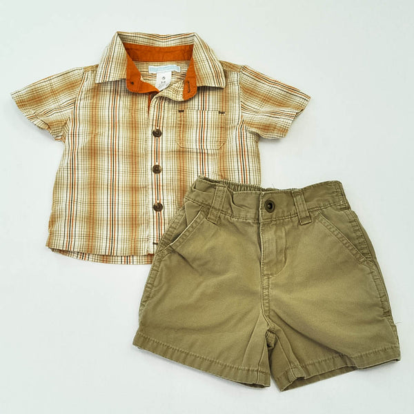 Old Navy Top with Cherokee Shorts ~ Gently-Used ~
