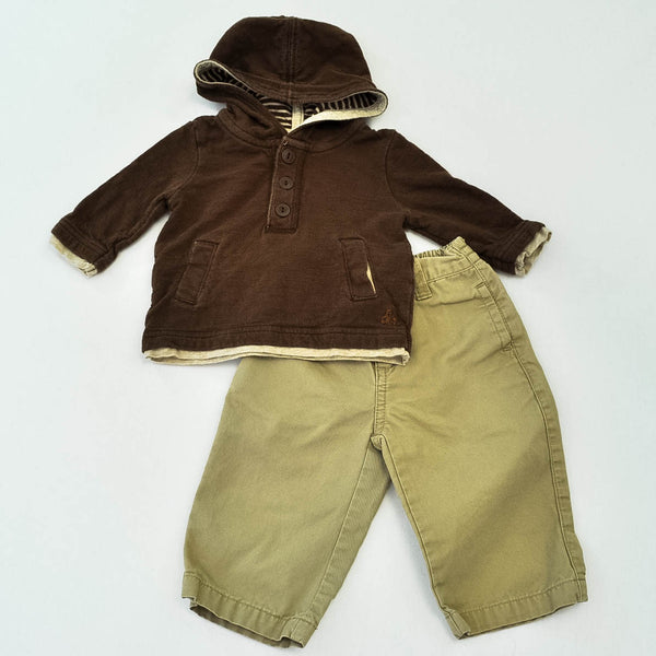 babyGap Hoodie with Gymboree Pants ~ Gently-Used ~