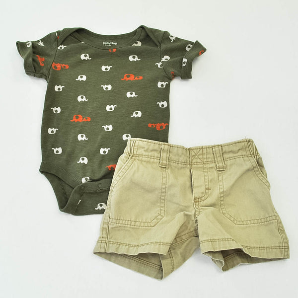 babyGap Bodysuit with Carter's Shorts ~ Gently-Used ~