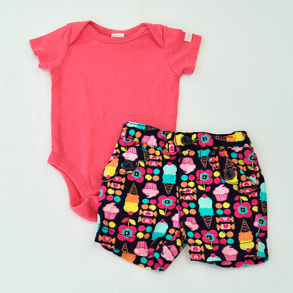 Old Navy Onesie with Circo Shorts ~ Gently-Used