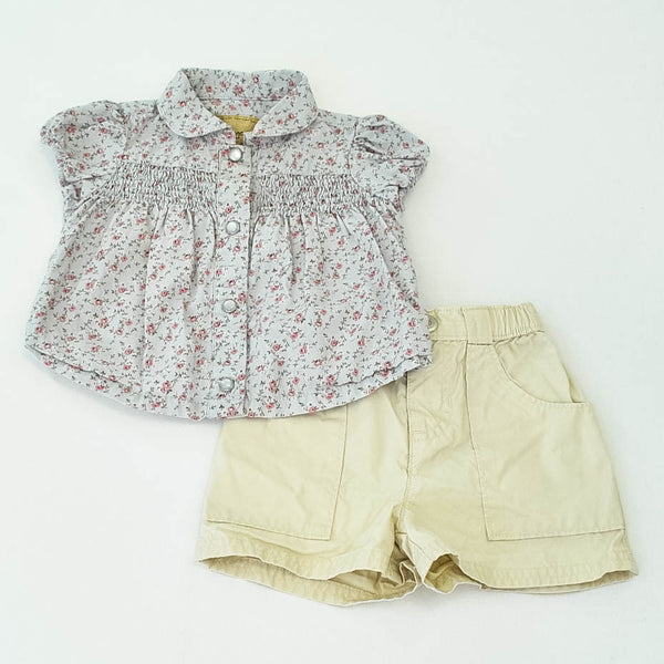 Old Navy Shirt with Baby Gap Shorts ~ Like New ~
