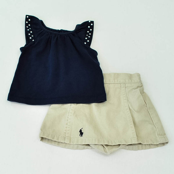 Gymboree Shirt with Ralph Lauren Skirt ~ Gently-Used ~