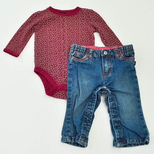 babyGap Bodysuit and Carter's Jeans ~ Gently-Used ~