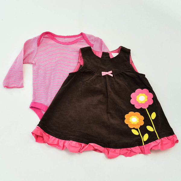 babyGap Bodysuit with Gymboree Dress ~ Gently-Used ~
