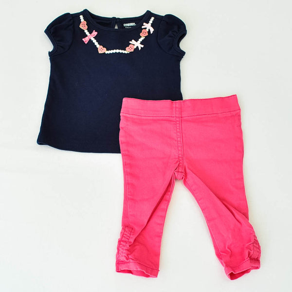 Gymboree Shirt with Crazy 8 Pants ~ Gently-Used ~