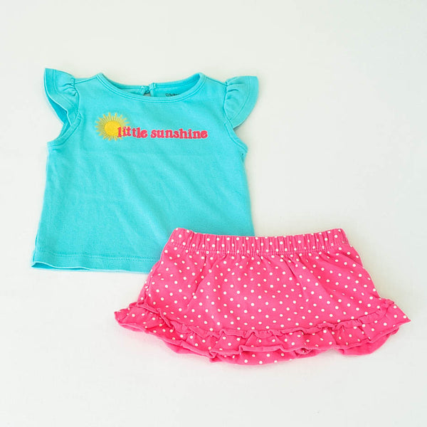 Gymboree Shirt with Just One You by Carter's skort~Gently-Used