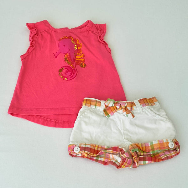 Children's Place Shirt with Gymboree shorts ~ Gently-Used