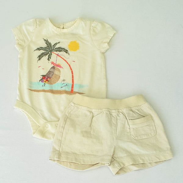 Baby Gap Onesie with Old Navy shorts~Gently-Used