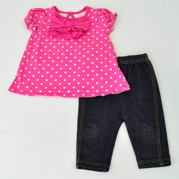 Children's Place Shirt with Bon Bebe Jeggings ~ Gently-Used ~