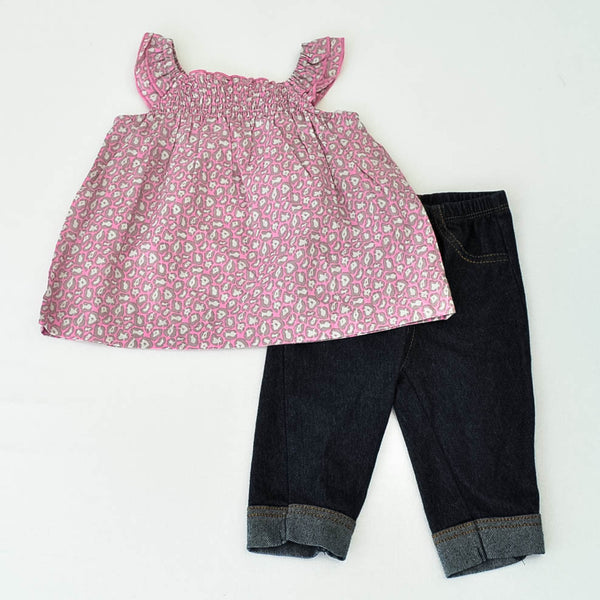 Kidgets Shirt with Carter's Jeggings ~ Gently-Used ~