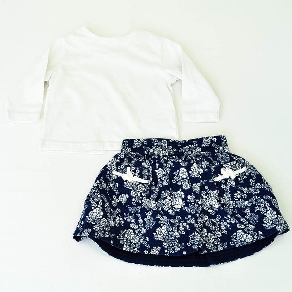 Miniwear Shirt with babyGap Skirt ~ Gently-Used ~ Attached diaper cover