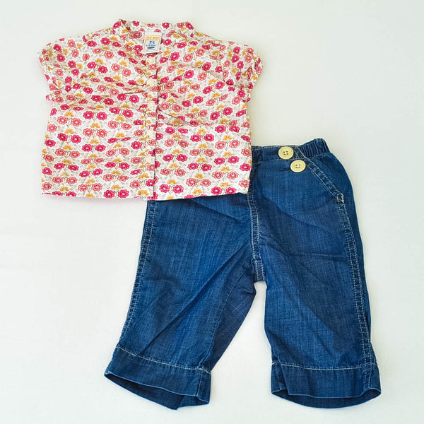Old Navy Shirt with babyGap Jeans ~ Gently-Used ~