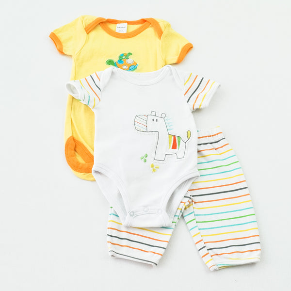 Baby Gear Bodysuit with Petit Lem Bodysuit and Pants ~ Like New ~