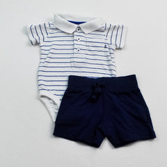 Carter's Onesie with Falls Creek Shorts ~ Gently-Used