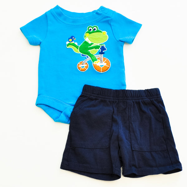 Onesie with Shorts | Garanimals with Children's Place | Gently-Used with New-with-Tag | Shorts Size : 0-3M |