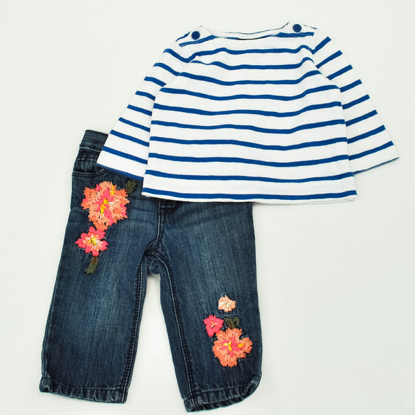 Children's Place Jeans with Baby Gap Shirt ~ Gently-Used ~