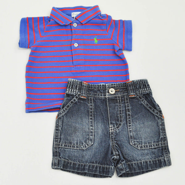 Ralph Lauren Top with Genuine Kids Shorts ~ Gently-Used ~