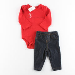 babyGap Long Sleeve Bodysuit with Carter's Leggings ~ New w/ Tags, Like New ~