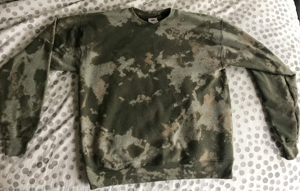 Custom Green Dyed Sweatshirt