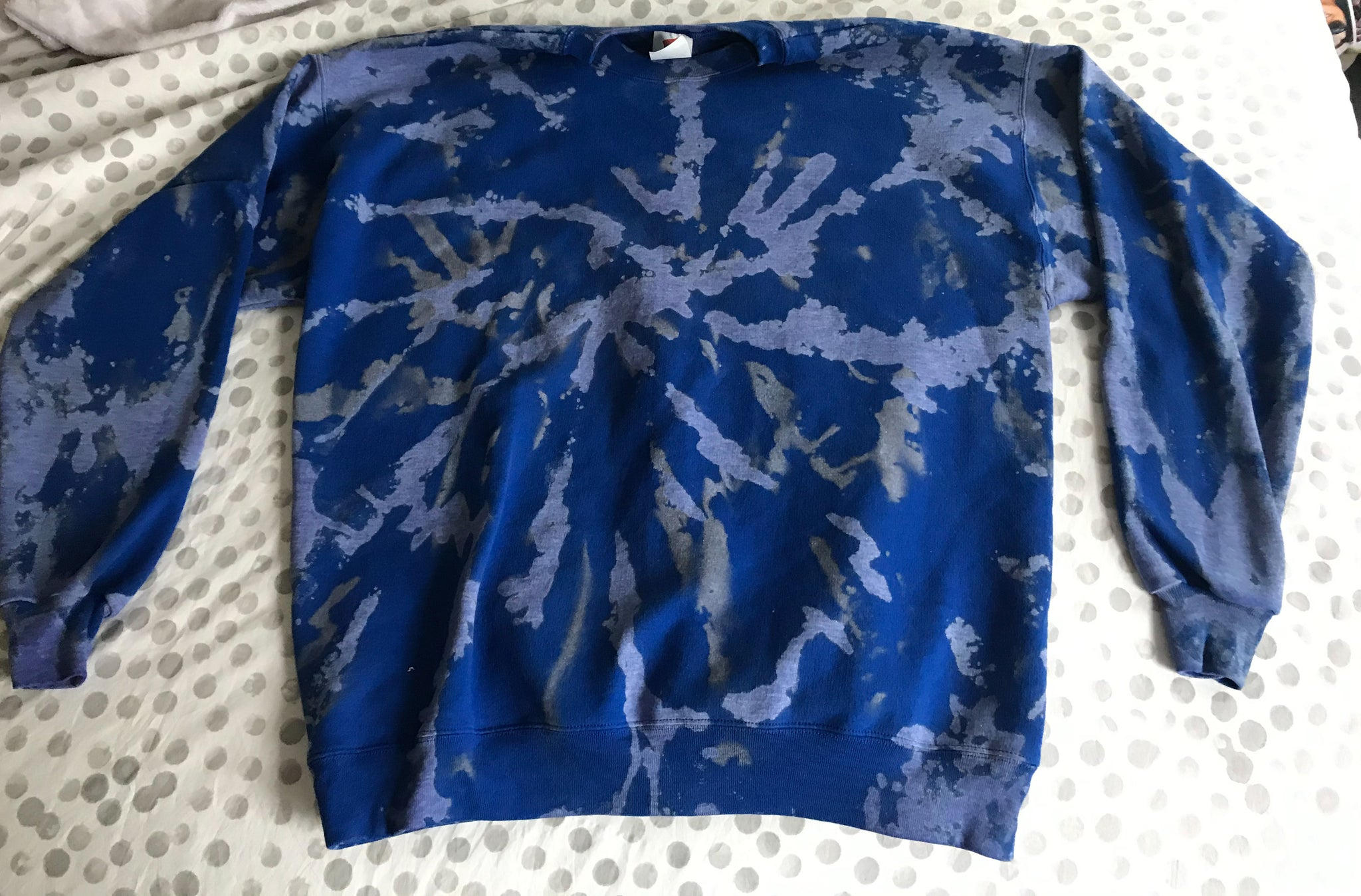 Custom Royal Blue Dyed Sweatshirt