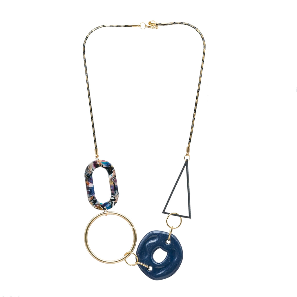 Bold Abstract Short Necklace - Kiyara