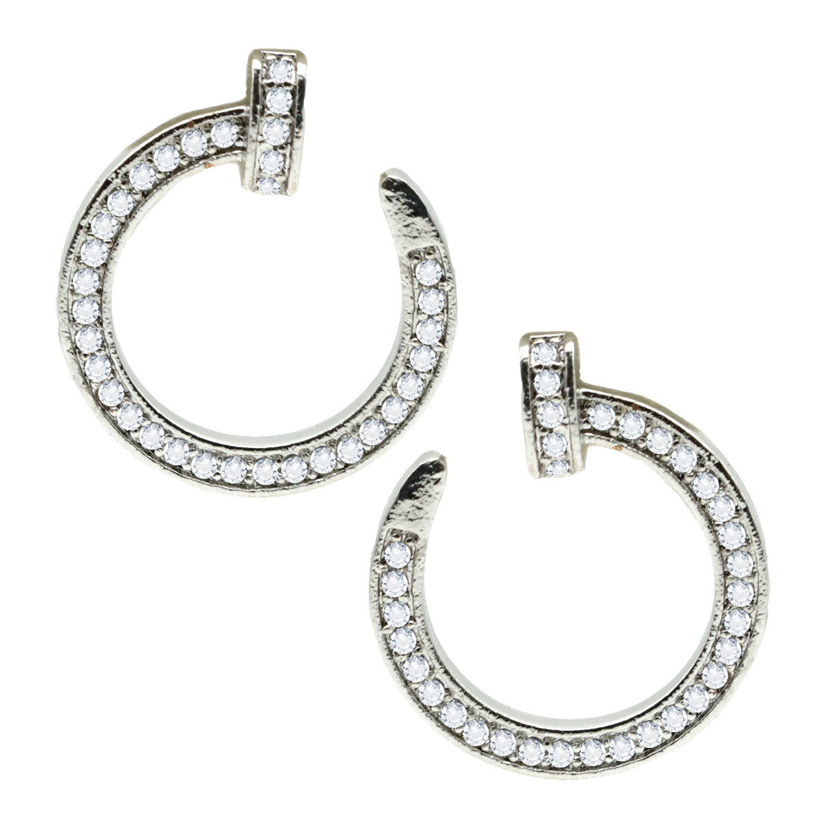Tiffany Round Nail Stud Earrings - Kiyara