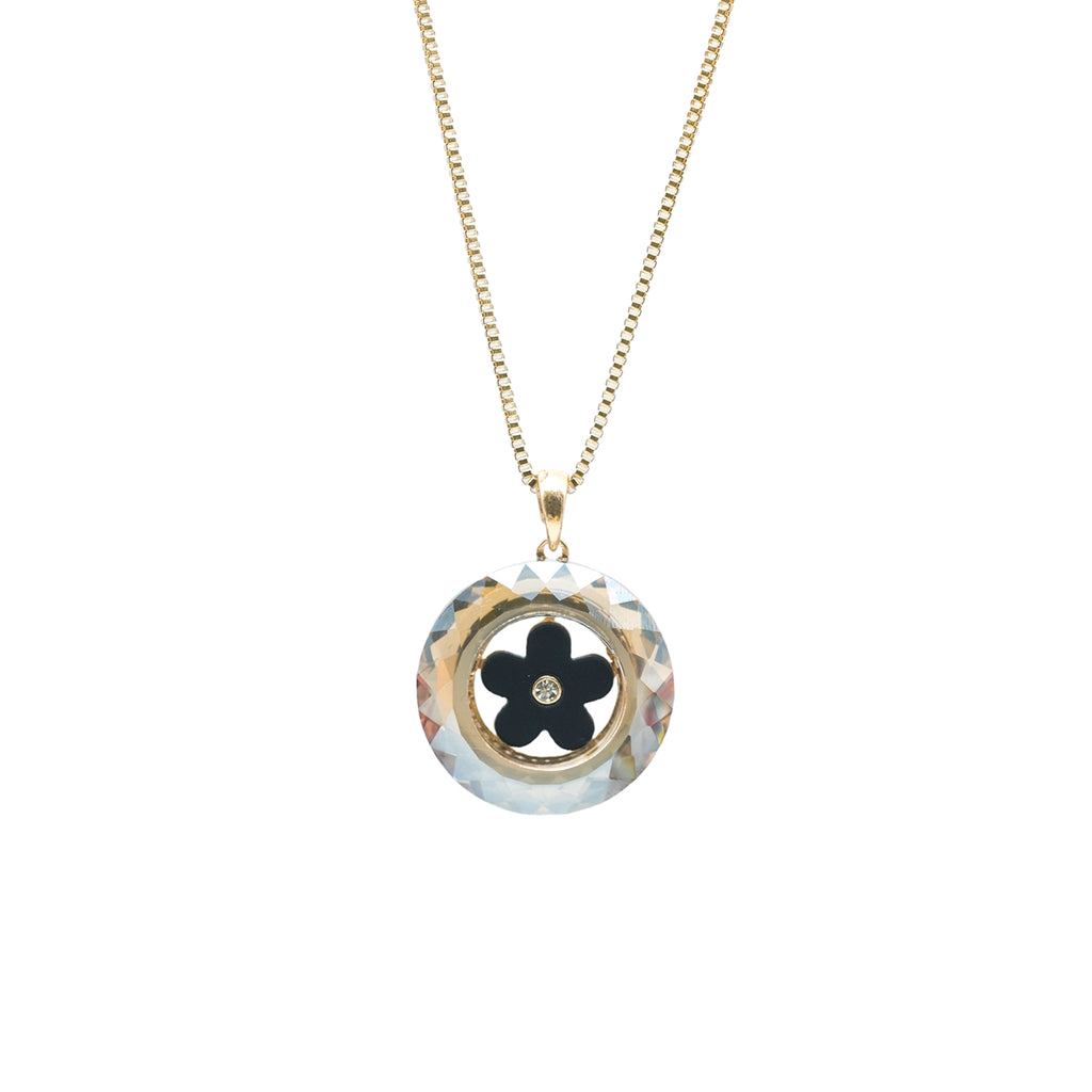 Prizm Cut Doughnut Shaped Long Necklace - Kiyara