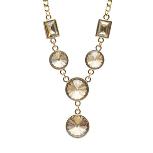 Baguette & Round Princess Cut Necklace - Kiyara