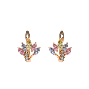 Multi-Colour Love Tree Shape Hoop Earring - Kiyara