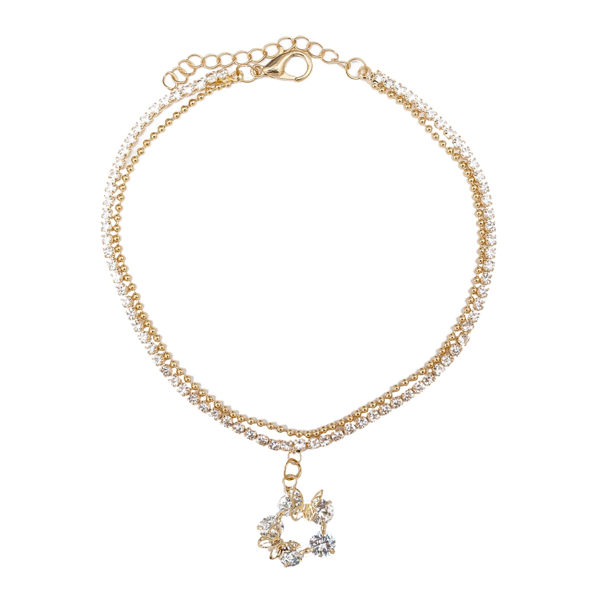 Butterfly Diamond Anklet - Kiyara