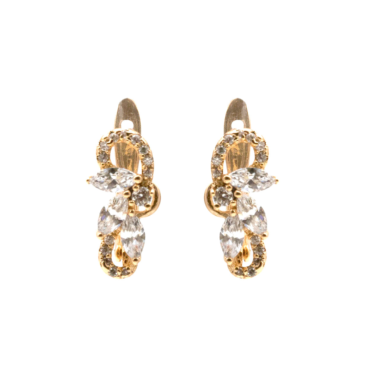 Crystal Embellished Stud Earrings - Kiyara