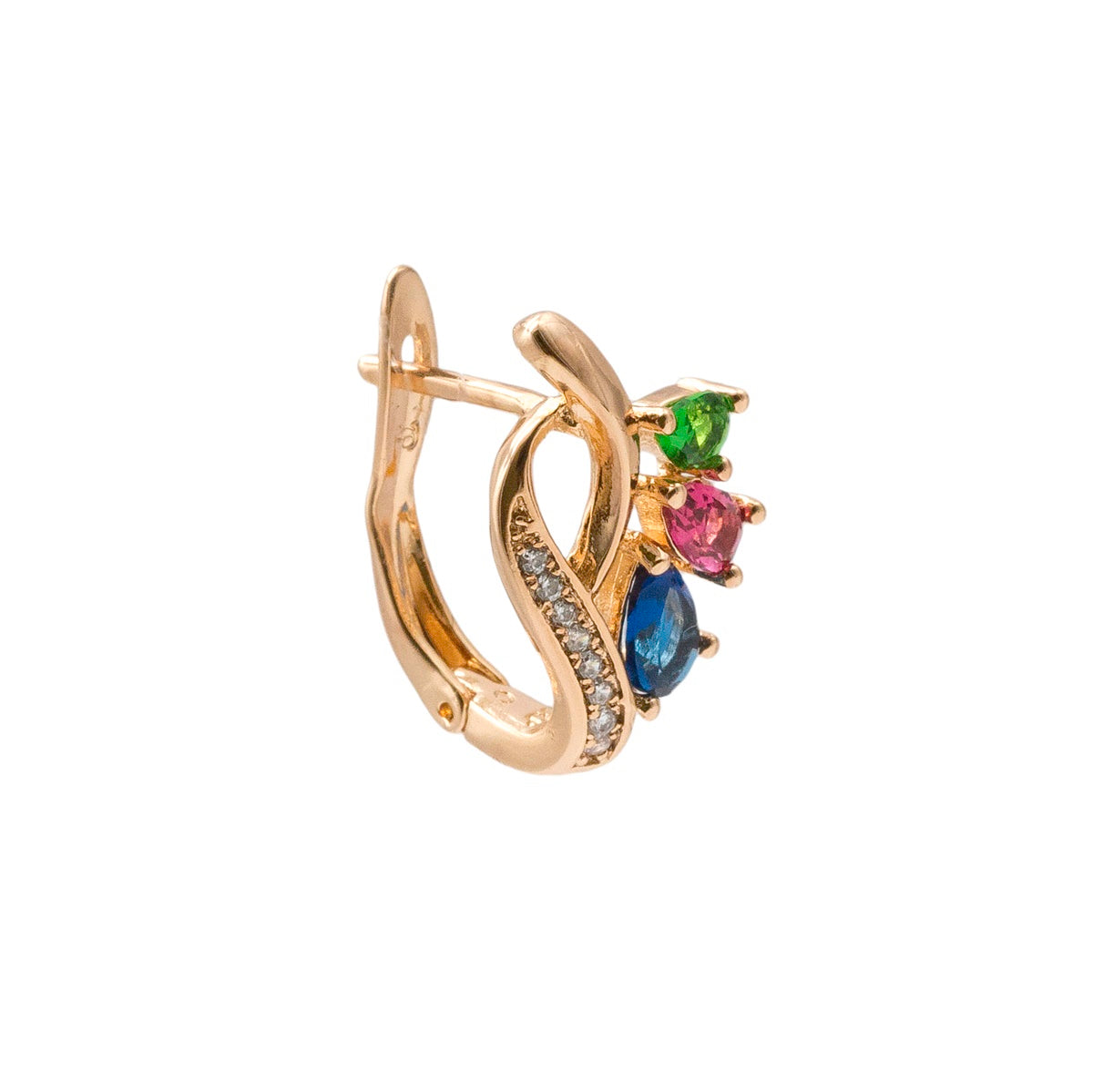 Abstract Multicolor Crystal Stud Earring - Kiyara