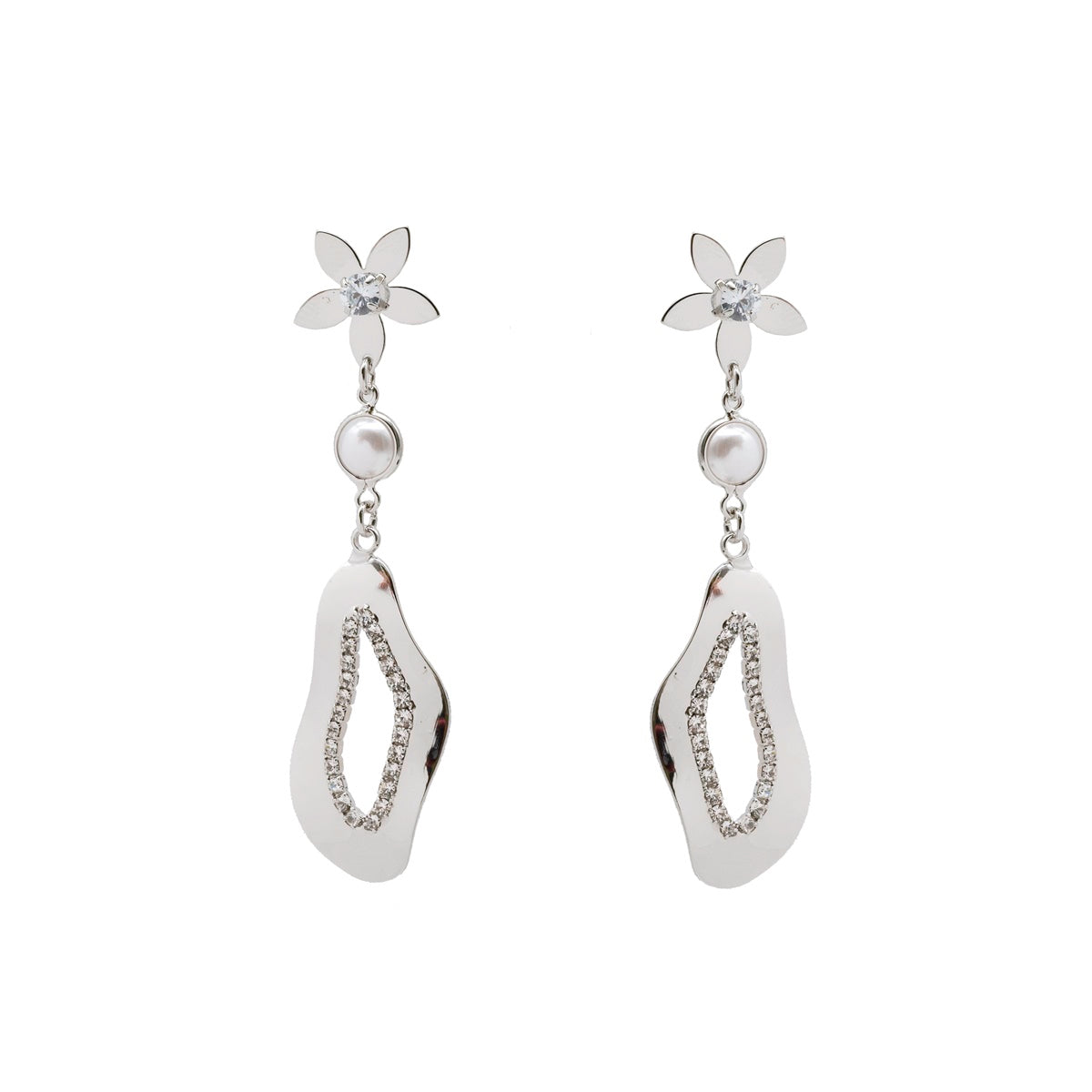 Abstract Floral Earrings - Kiyara