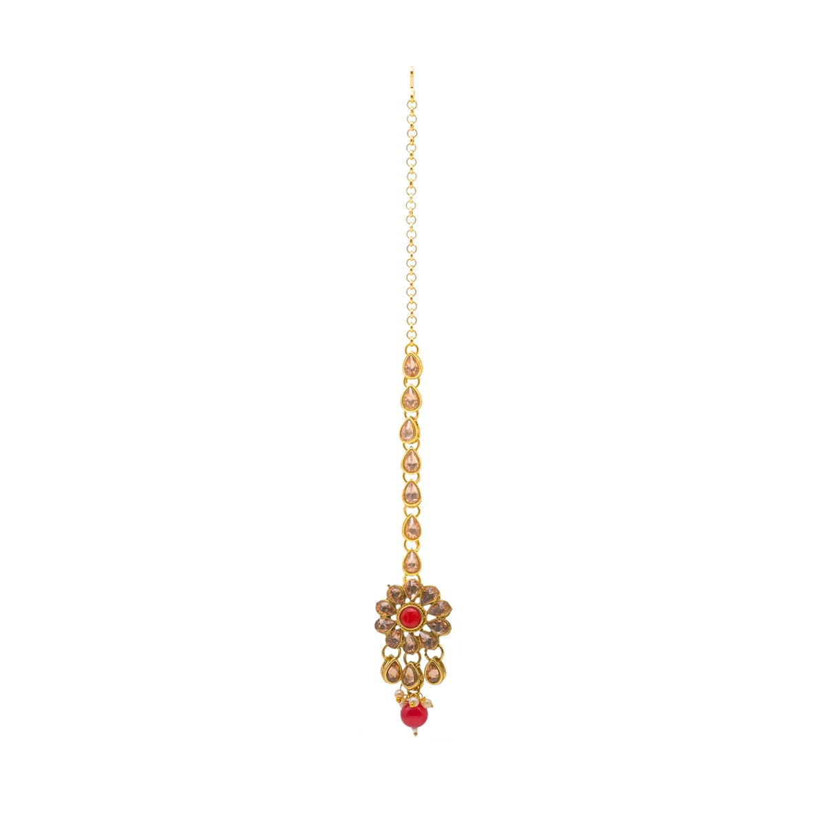 Floral Motif Kundan Necklace Set - Kiyara