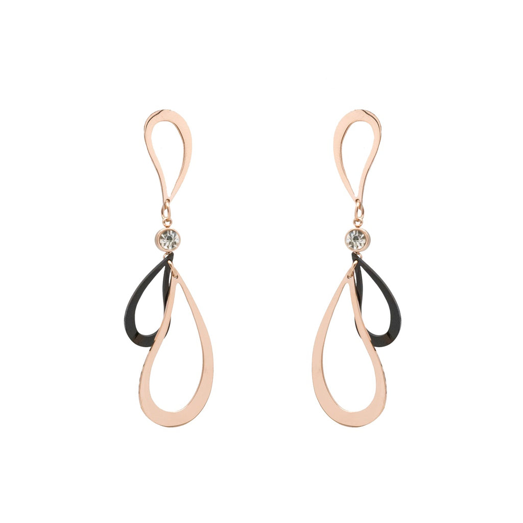 Freestyle Abstract Black Earring - Kiyara