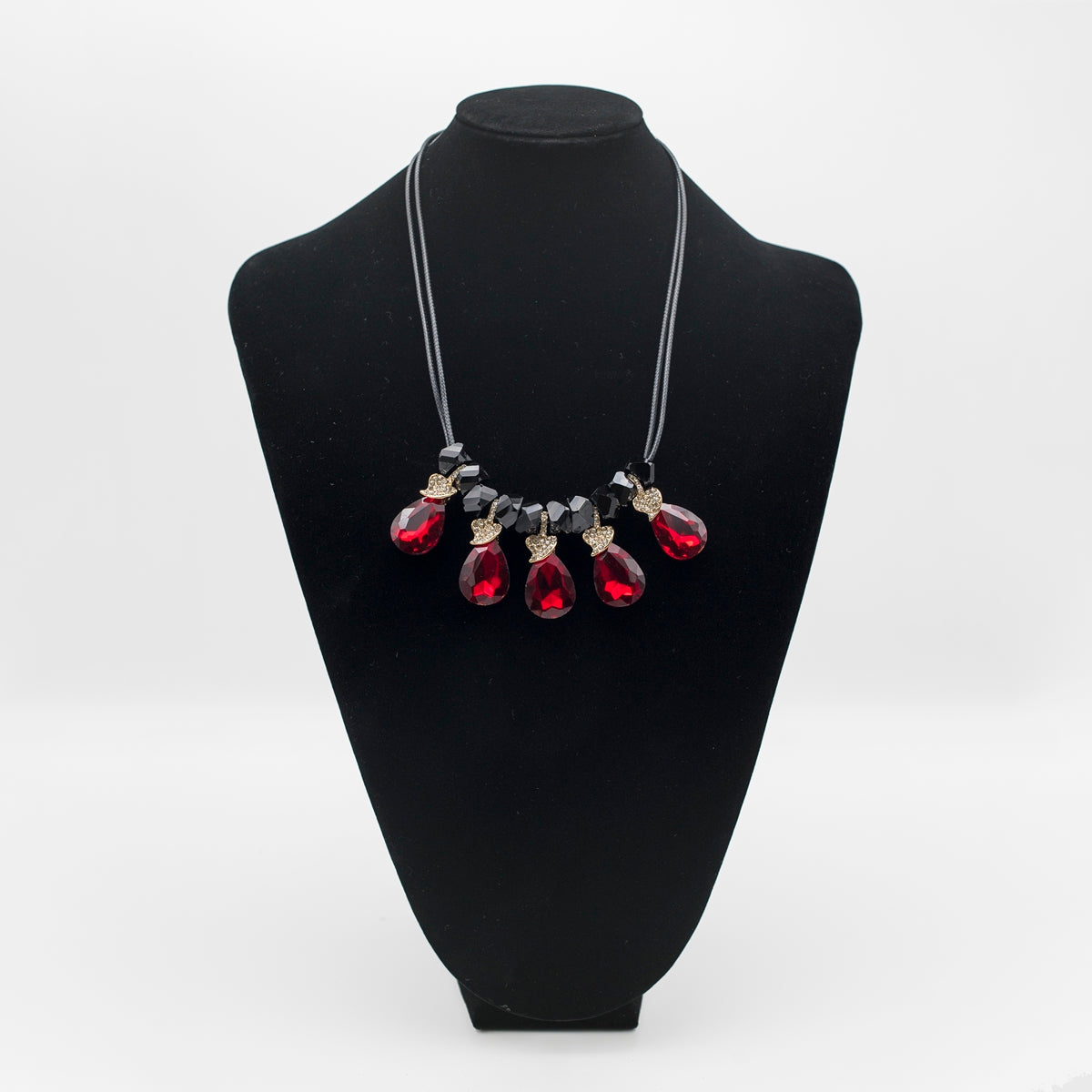 Sparkling Drops Colored Necklace - Kiyara