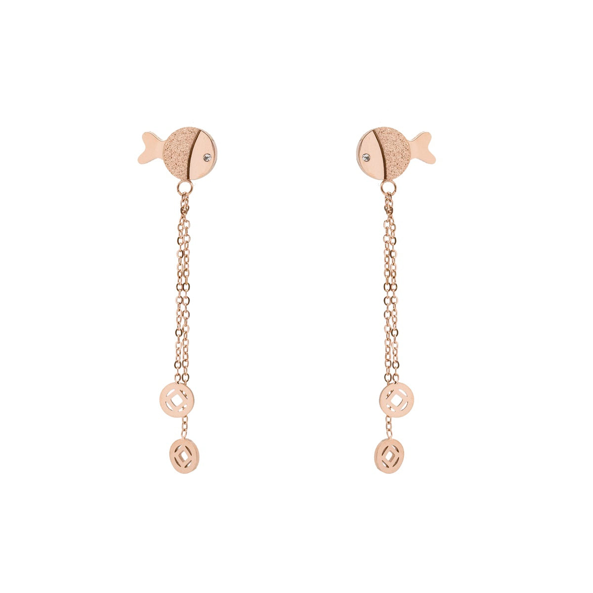 Glazy Swinging Fish Earring - Kiyara