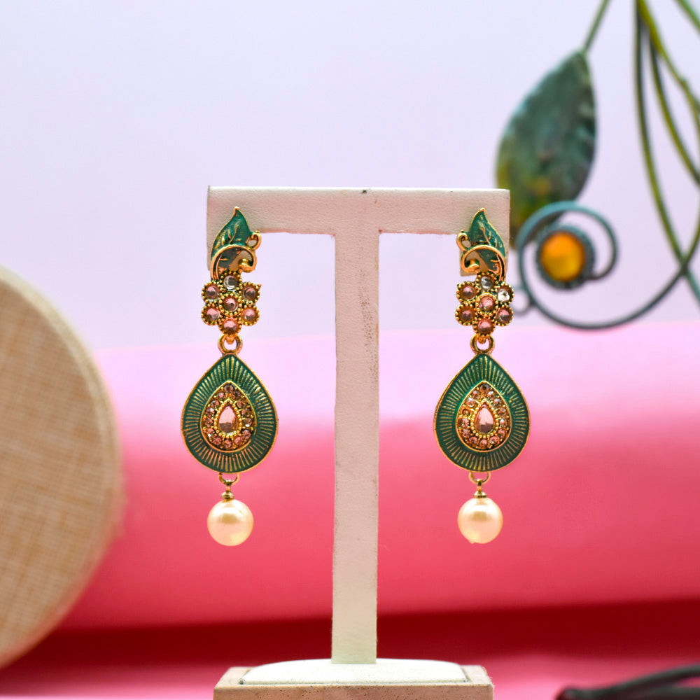 Chimes Antique Ethnic Fusion Earrings - Kiyara
