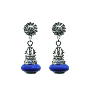 Retro Style Sun flower Pattern Earring - Kiyara