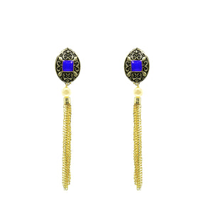 Stylish Gold Plated Color Long Earring - Kiyara