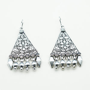 Floral Triangle Indo-Western Earrings - Kiyara