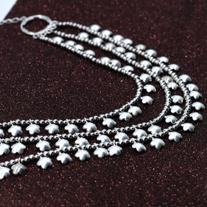 Antique German Silver Oxidised Plated Necklace - Kiyara