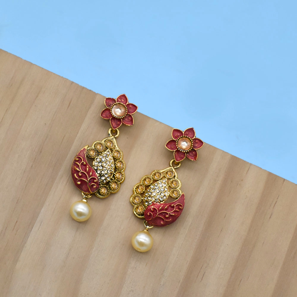 Jewellery Gold Plated with Emboss Color Earrings - Kiyara