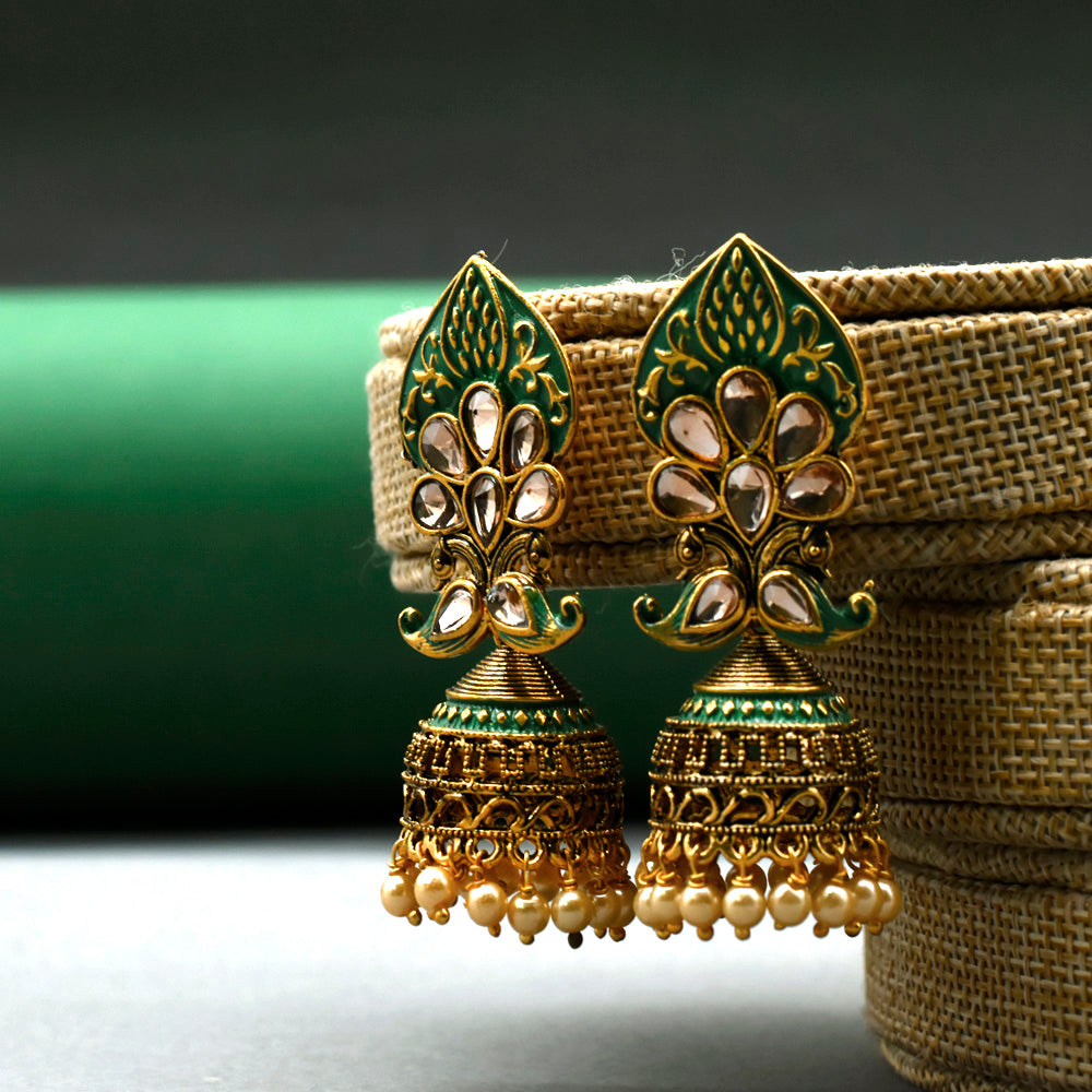 Desi Tadka Jhumki Earrings - Kiyara