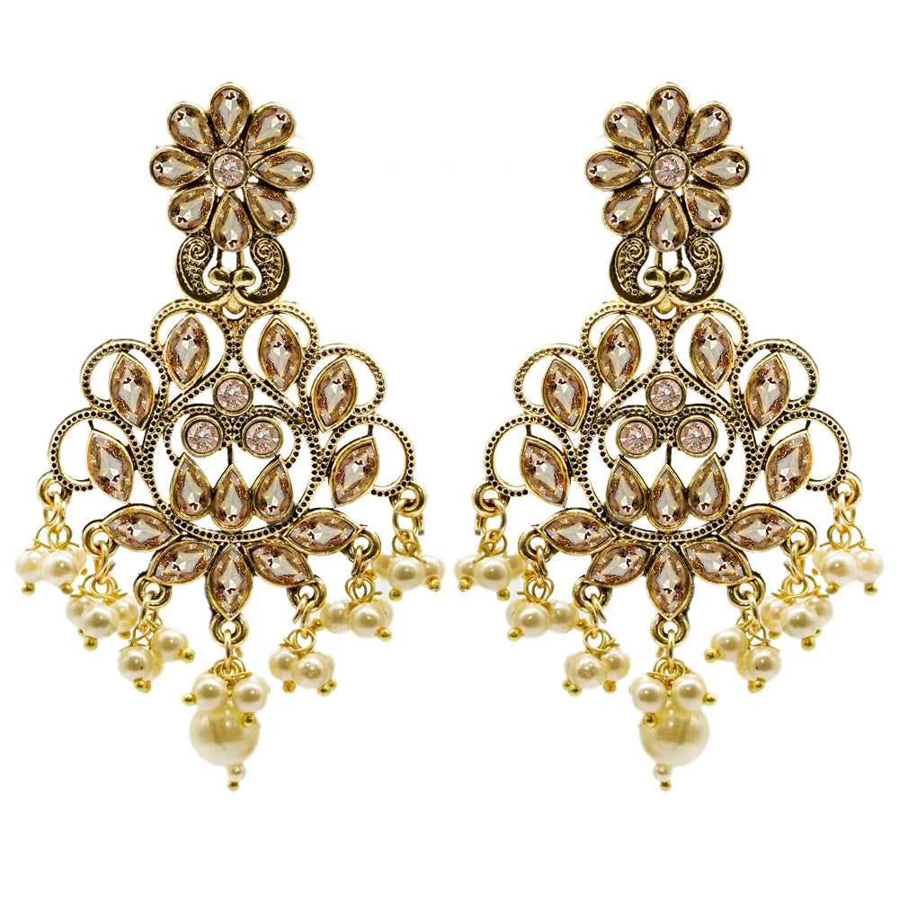 Golden Dangler Earrings by Kiyara - Kiyara