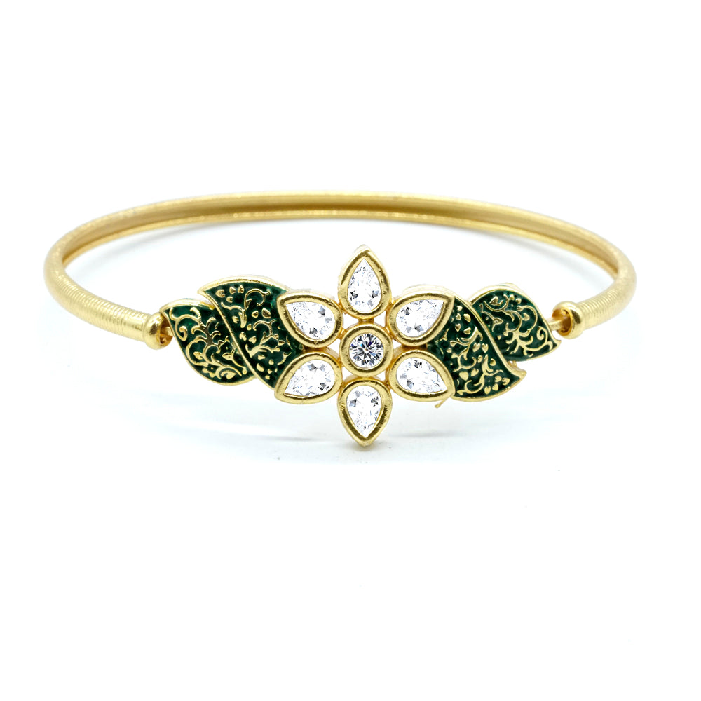 Kiyara Jewels Traditional Jewellery Gold Plated Bracelet - Kiyara