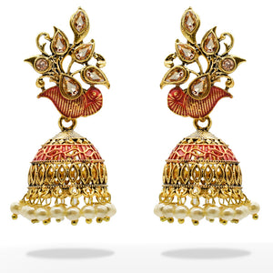 Gold Plated Pearls Designer Kiyara Earrings - Kiyara