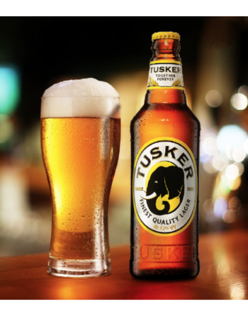 Tusker Kenyan Beer (CA, DE, NE, NV, NH, ND, OR, VT, & VA Only)  - Min Qty 6 bottles