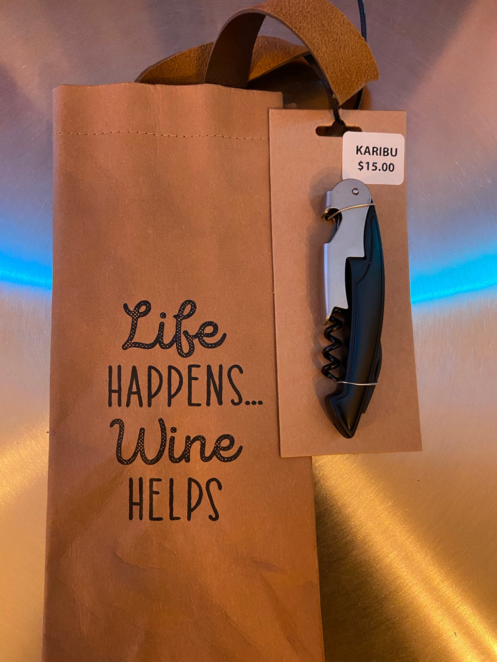 2-Piece Wine Bag and Bottle Opener